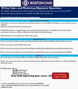 Sales and Marketing Alignment Checklist